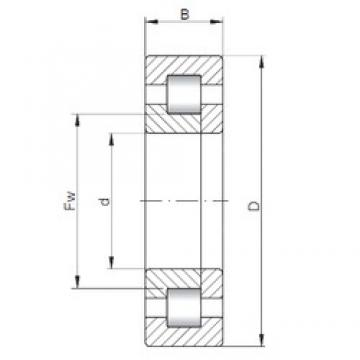 ISO NUP1022 cylindrical roller bearings